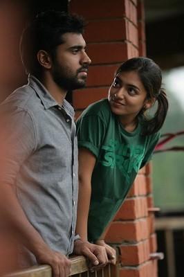 "Nazriya Nazim with Nivin Pauly in the firs look of Malayalam film ""Ohm Shanthi Oshaana"" (Facebook/Nazriya Nazim)"