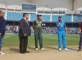 India wins toss, opts to field against Bangladesh