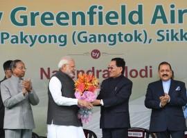 PM Narendra Modi inaugurates Sikkim's first airport