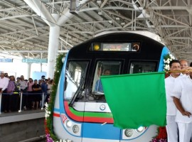 LB Nagar-Ameerpet Metro Rail inaugurated by Governor Narasimhan