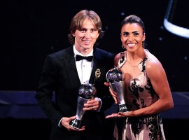 Modric and Marta scoop FIFA player of the year awards