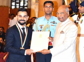 Virat Kohli receives Khel Ratna award