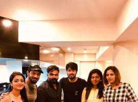 Riythvika meet Simbu, Mahat, Janani, Harish Kalyan and Aishwarya Dutta
