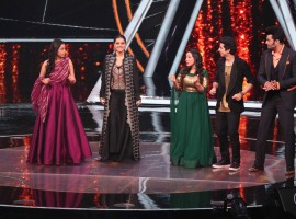 Kajol and Ajay Devgn promote Helicopter Eela on Indian Idol sets