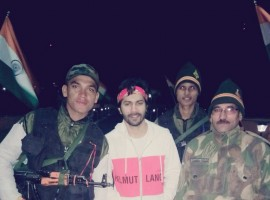 Varun Dhawan meets army men at Kargil War Memorial