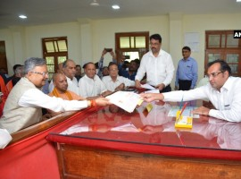 CM Raman Singh files nomination from Rajnandgaon constituency