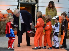 Halloween 2018: Donald Trump and First Lady Melania welcome trick-or-treaters at White House