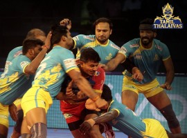 Pro Kabaddi League 2018: Tamil Thalaivas beat UP Yoddha by 46-24