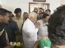 Vajubhai Vala pays his last respects to Union Minister Ananth Kumar