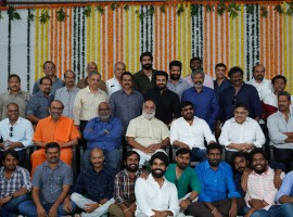 Prabhas, Chiranjeevi, Ram Charan, Jr NTR, Rana Daggubati and others attend SS Rajamouli's RRR movie launch