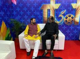 Prakash Javadekar with Rajinikanth