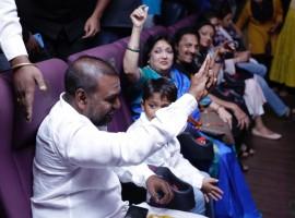 Raghava Lawrence Waving his Hand Towards Crowd