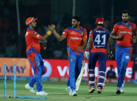 Young Shreyas Iyer missed a magnificent century by four runs but that was enough for Delhi Daredevils to edge past Gujarat Lions by two wickets in an inconsequential Indian Premier League (IPL) clash at the Green Park Stadium here on Wednesday. If Rishabh Pant and Sanju Samson demolished the Gujarat Lions in their away encounter at the Ferozeshah Kotla in Delhi last Thursday, it was Iyer, who almost single-handedly tamed the Lions in their own den with a 57-ball 96, his highest IPL score. Languishing at the bottom of the IPL standings and already out of contention for the play-offs, both the sides had nothing to lose in the contest. With the win, Delhi rose to sixth while Gujarat are at the penultimate spot in the eight-team table. Chasing a mammoth 196, Delhi lost half their side for 105 runs before Iyer and Australian Pat Cummins' cameo (24 of 13 balls) guided the visitors to the win.