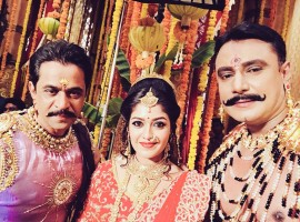 Arjun Sarja, Meghana Raj and Darshan's look revealed from Kurukshetra movie.
