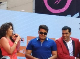 Mohanlal stunning new look at MyG mobile showroom inauguration.