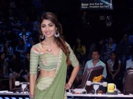 Actress Shilpa Shetty Kundra on sets of dance reality show