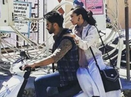 Actor Shahid Kapoor takes co-star Shraddha Kapoor for a ride in Tehri during Batti Gul Meter Chalu shoot.