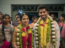 Kathir and Sanjana tied the knot in a traditional Hindu wedding in Erode.
