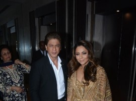 Shah Rukh Khan and Gauri Khan pose together during the Hello Hall of Fame Awards 2018 held at St. Regis hotel in Mumbai.