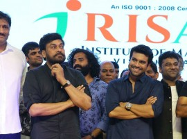 Telugu movie Rangasthalam pre-release event held at RK Beach, Vizag.