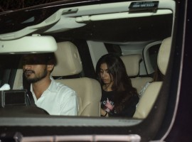 Boney Kapoor daughters Janhvi Kapoor and Khushi Kapoor was spotted at his son Arjun Kapoor's home.