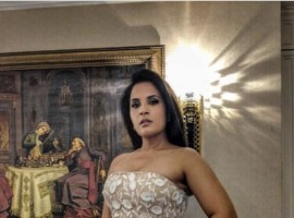 Bollywood actress Richa Chadha took to the red carpet of an award function in Mumbai last evening in Jarlo gown.