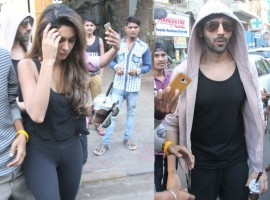 Sonu Ke Titu Ki Sweety actor Kartik Aryan spotted with a mystery girl at Farmer's cafe in Bandra, Mumbai.