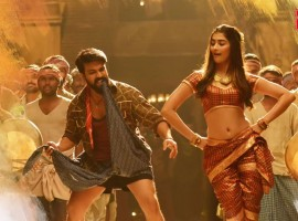 Rangasthalam item song Jigelu Rani: Actress Pooja Hegde starring in the song with actor Ram Charan.