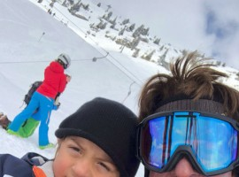 After busy shooting for Aanand L Rai's Zero, SRK holidays with son AbRam, wife Gauri Khan in Switzerland. Actor Shah Rukh Khan took social media and shared a picture on Twitter with the caption,