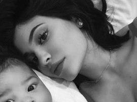 Reality TV star Kylie Jenner shares first selfies with a gorgeous daughter Stormi Webster. She shared a picture on Instagram with the caption,
