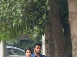 Actress Janhvi Kapoor, Ishaan Khatter during shooting of their upcoming movie