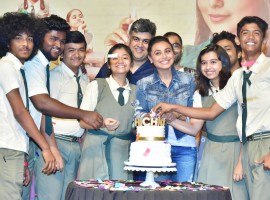 Bollywood actress Rani Mukerji during success party of film