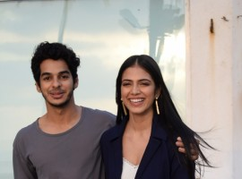 Ishaan Khatter and Malavika Mohanan during an interview for upcoming film