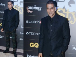 Akshay Kumar poses for the cameras on his arrival at the GQ Style Awards 2018 at Taj Lands End in Mumbai.