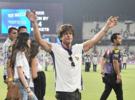 Bollywood superstar Shah Rukh Khan upped the ante with his presence in Kolkata Knight Riders' Indian Premier League (IPL) opening game against Royal Challengers Bangalore here at the jam-packed Eden Gardens on Sunday.
