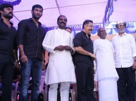 Tamil film fraternity led by veteran actors-turned-politicians Kamal Haasan and Rajinikanth on Sunday observed a silent protest demanding the setting up of a Cauvery Management Board and the Cauvery Water Regulation Committee (CWRC).
