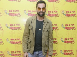 Bollywood actor Abhay Deol promotes his upcoming movie Nanu Ki Jaanu at Radio Mirchi studio in Mumbai, which also stars Patralekhaa.