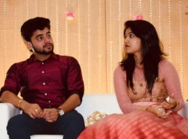 Jimikki Kammal fame Sheril G Kadavan to Praful Tomy Amamthuruthil on Sunday (8th April) in Kerala. Sheril shared his engagement pictures on Facebook with the caption,