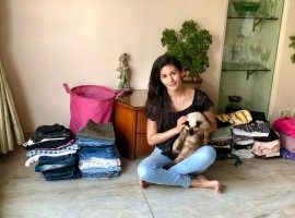 Model turned actress Amyra Dastur's love for animals knows no bounds. In a sheer act of love, Amyra has decided to donate her own clothes (some of which are brand new and haven't been worn), worth a lake of rupees, towards a garage sale organised by the animal charity she is associated with, 'World for All.'
