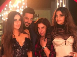Actress Kareena Kapoor Khan, Badshah, Farah Khan and Sonam Kapoor while shooting for a Veere Di Wedding song.
