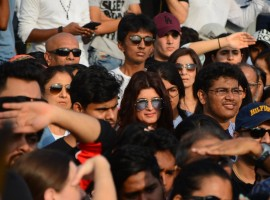 Bollywood celebrities, along with thousands of Mumbaikars, gathered on Sunday for a peaceful protest against the barbaric rape and murder of an eight-year-old girl in Kathua in Jammu and Kashmir, and sexual assault of another young girl in Unnao in Uttar Pradesh. Bollywood celebrities like Twinkle Khanna, Rajkummar Rao, Patralekha, Sameera Reddy, Tara Sharma, music director Vishal Dadlani, singer and social activist Sona Mohapatra, filmmaker Kiran Rao, Aditi Rao Hydari, veteran actress Helen were among many others who came on the streets of Bandra to protest against the incidents of rape and seek justice.