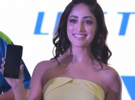 Bollywood film actress Yami Gautam at the launch of iVVO's new smart phone