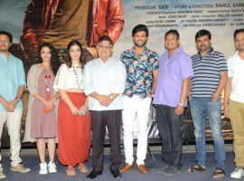 Telugu movie Taxiwala Audio and teaser launch event held in Hyderabad. Celebs like Vijay Devarakonda, Priyanka Jawalkar, Allu Aravind, Malavika Nair, Maruthi, Bunny Vasu, Rahul Sankrithyan, Manjusha and others graced the event. Movie directed by Rahul Sankrityan and produced under the Geetha Arts and UV Creations banner. The soundtrack of the movie was composed by Jakes Bejoy and it has been released on May 18, 2018 and the stars are promoting it in a full swing.