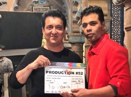 The shooting for filmmaker Karan Johar's next production venture