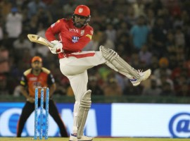 A brilliant all-round effort helped Kings XI Punjab beat Sunrisers Hyderabad by 15 runs in an Indian Premier League match here on Thursday. First, Chris Gayle's unbeaten 104-run knock helped Punjab posted a mammoth 193/3 and then, its bowlers managed to restrict the visitors to 178/4 in their allotted 20 overs. Chasing a massive target, Hyderabad never looked in contention as the visitors lost wickets at regular intervals. Hyderabad's in-form opener Shikhar Dhawan got injured on his first ball and from then, the required rate kept on increasing and none of the batsmen scored freely.