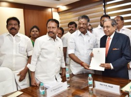 Tamil Nadu Deputy Chief Minister O. Panneerselvam on Thursday met N.K. Singh, Chairman of the 15th Finance Commission, in New Delhi and put across the state's views on the latter's Terms of Reference (ToR), an official said. The Deputy Chief Minister, who also holds the Finance portfolio, led a delegation of 40 parliamentarians from the AIADMK, including Lok Sabha Deputy Speaker M. Thambi Durai. He also handed over a memorandum signed by Chief Minister K. Palaniswami. The state government's major concern is the use of 2011 census data by the 15th Finance Commission, which is disadvantageous for Tamil Nadu when it comes to allocation of funds by the central government.