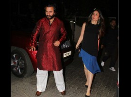 On Thursday (April 20), Kapoor family including Kareena Kapoor Khan, Karisma Kapoor with their children Samaira and Kiaan along with Saif Ali Khan came together to celebrate Babita Kapoor's 70th birthday in Mumbai. The entire Kapoor family came together to wish Babita on the occasion, but Kareena's son Taimur was missing. Have a look at the pictures from Babita Kapoor's birthday bash.