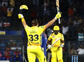 Opener Shane Watson hit a fantastic 106-run knock as Chennai Super Kings (CSK) thrashed Rajasthan Royals (RR) by 64 runs here on Friday to register their third win in four games in the Indian Premier League (IPL). Veteran Australian all-rounder Watson took just 51 deliveries to bring up his third IPL century, guided by nine boundaries and six sixes, to propel Chennai to a massive 204/5 at the Maharashtra Cricket Association Stadium which is the southern franchise's new home venue. In reply, Rajasthan were bowled out for 140 in 18.3 overs as they suffered second straight loss after winning the first two.