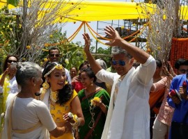 Model-turned-actor Milind Soman is all set to tie marry girlfriend Ankita Konwar as pictures of the couple's pre-wedding ceremonies surfaced on social media. Several pics go viral on social media that shows the couple is getting ready for their wedding ceremony in Alibaug. Ankita is seen with mehendi in her hands as she poses with Milind Soman.