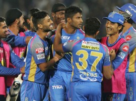 K. Gowthams quickfire 33 not out off 11 deliveries helped Rajasthan Royals overcome Mumbai Indians by three wickets here on Sunday as they ended their two-match losing streak in the Indian Premier League (IPL). In pursuit of Mumbai's 167/7, powered by half-centuries from Suryakumar Yadav and Ishan Kishan, Rajasthan were in trouble having lost six wickets for 125 runs till 17.1 overs. But 29-year-old Karnataka bowling all-rounder Gowtham whacked four fours and two sixes to see Rajasthan overhaul Mumbai target with two deliveries to spare. Earlier in the first innings, Yadav and Kishan put on an excellent batting display to add 129 runs between them off 82 deliveries coming together after the early departure of Mumbai opener Evin Lewis.